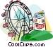 Vienna Ferris wheel Austria Vector Clipart picture