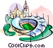Germany Munich Olympic stadium Vector Clipart graphic