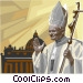 Pope John Paul II blessing Vector Clip Art picture