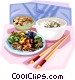 Korean boiled rice Vector Clipart graphic