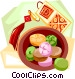 Korean candy Vector Clip Art picture