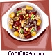 Beef rib stew Vector Clipart graphic
