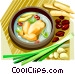 Korean Food ginseng chicken in Vector Clip Art picture