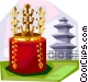 Korean Gold Crown from Silla Vector Clipart graphic