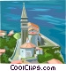 Slovenian seaside village Vector Clipart image