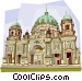 Germany Berliner Dom Berlin Cathedral Vector Clip Art picture