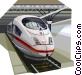 Brussels high speed train Vector Clip Art graphic