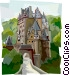 Burg Eltz Castle, Germany Vector Clip Art graphic