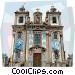 Sao Ildefonso Church Vector Clipart graphic
