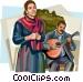 Portugal fado singers Vector Clip Art graphic