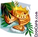 Epiphany cake Galette Des Rois Vector Clipart picture