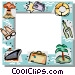 Vacation themed frame Vector Clip Art image
