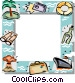 Vacation themed frame Vector Clip Art picture