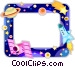 Outer Space frame Vector Clip Art picture