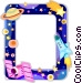 Outer Space frame Vector Clip Art graphic