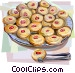 Danish cookies Vector Clipart illustration