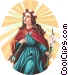 Saint Philomena Vector Clip Art picture
