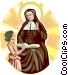 Saint Angela Merici Vector Clip Art graphic