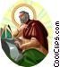 Saint Augustine of Hippo Vector Clipart graphic