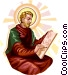Saint Luke Vector Clipart illustration