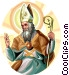 Saint Ambrose Vector Clipart graphic