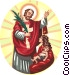 Jesus Christ blessing mother and child Vector Clip Art graphic