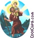 Saint Christopher Vector Clip Art graphic